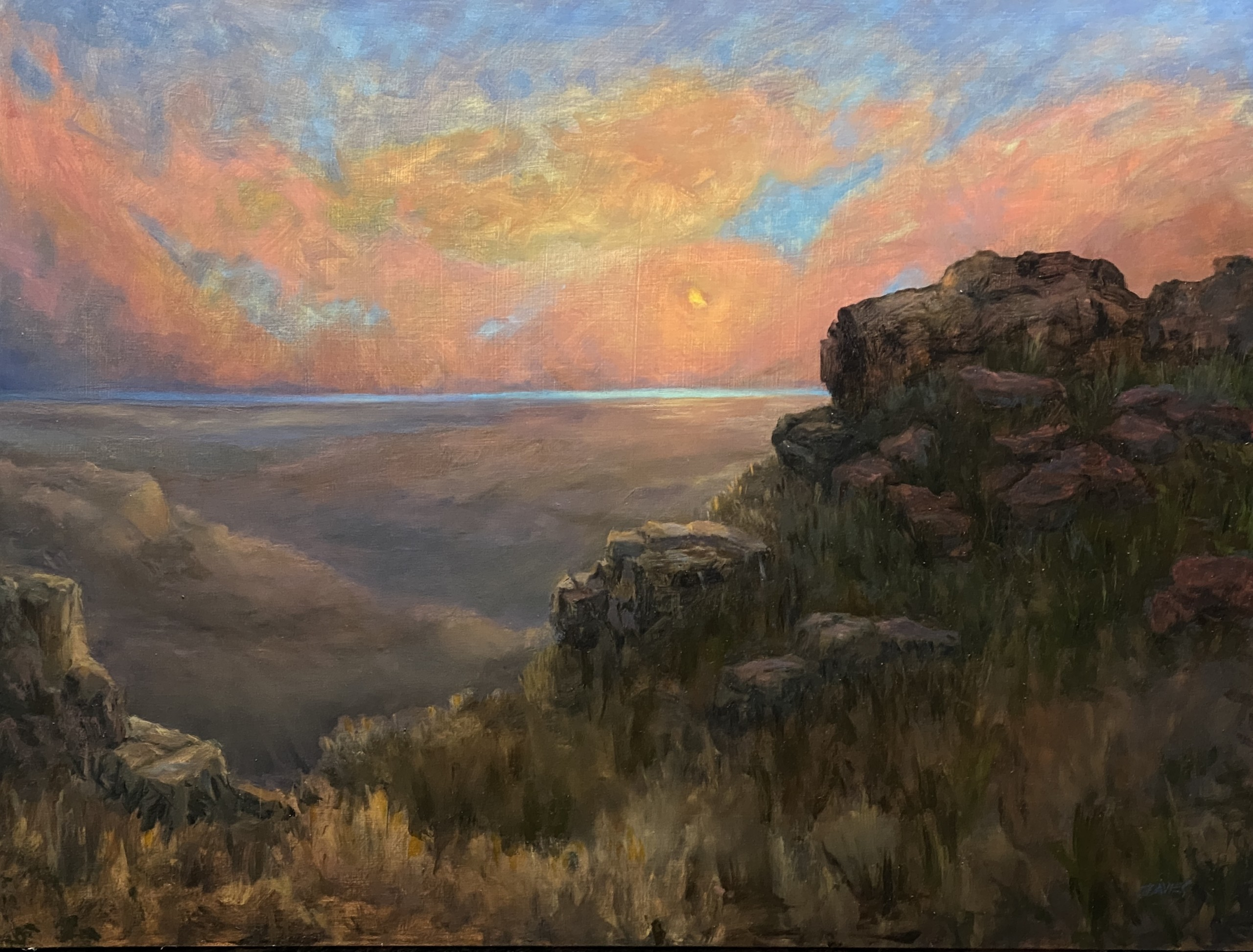 "Richard Davies, ""Primordial,"" Oil on panel"
