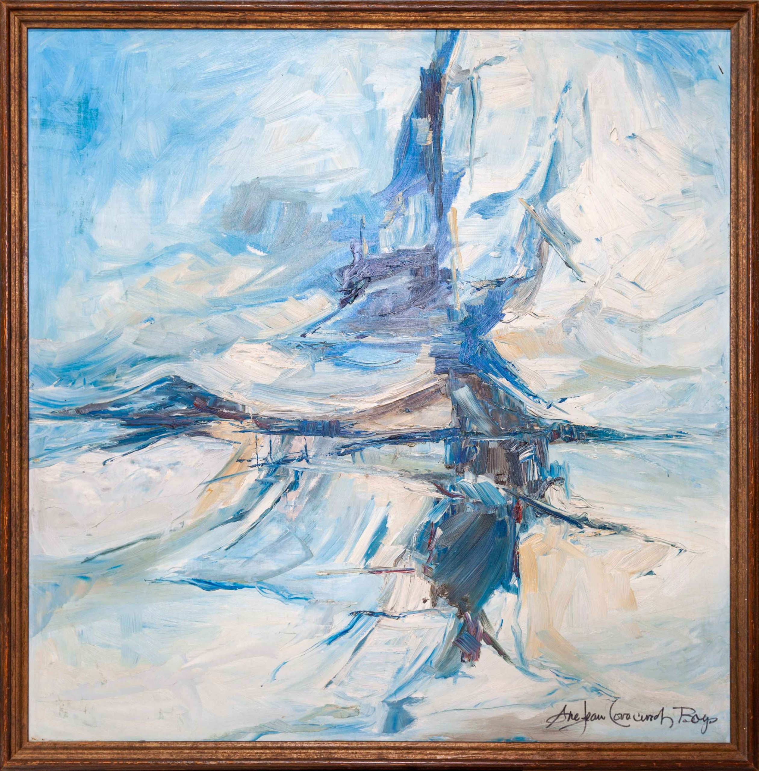 """Sue Jean Covacevich, """"Storm Over Cup and Saucer"""", Oil on canvas"""