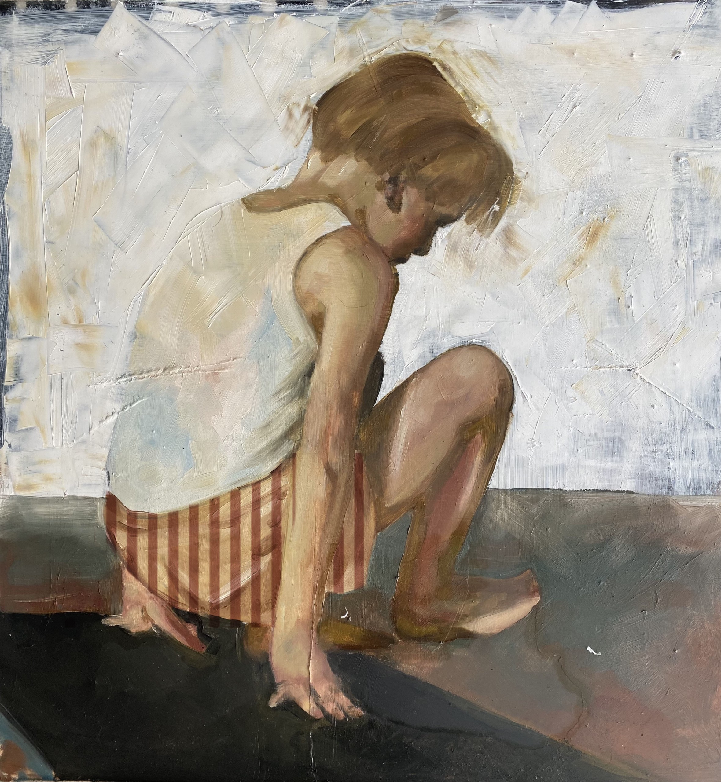 "Engy AlGarf, ""Summer Lake"", Oil on resin"